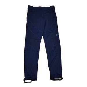 Nike Pro Hyperwarm Fleece-Lined Leggings Blue S